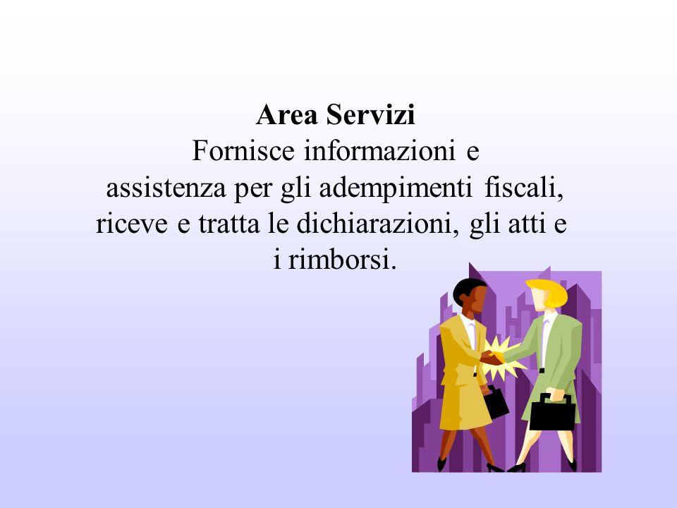 Fornisce informazioni e assistenza per gli adempimenti fiscali,