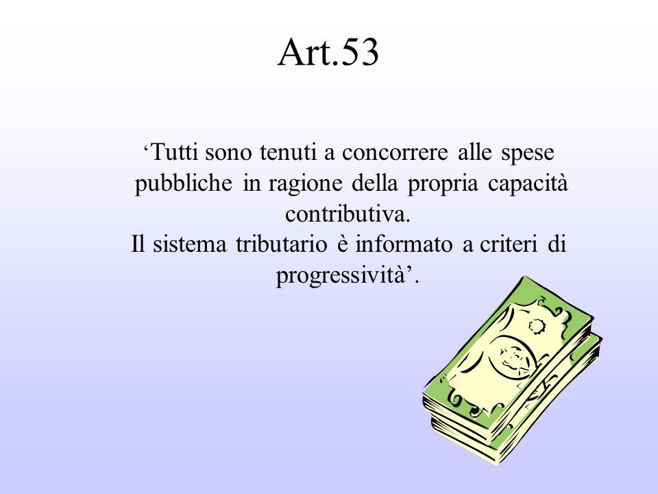 Art.53 pubbliche in ragione della propria capacità contributiva.