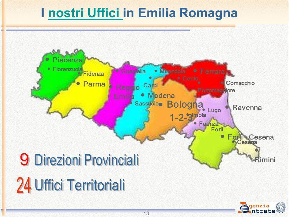 I nostri Uffici in Emilia Romagna