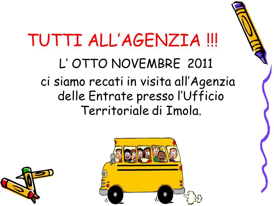 TUTTI ALL'AGENZIA !!! L' OTTO NOVEMBRE 2011