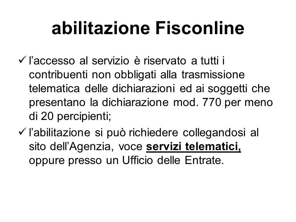 abilitazione Fisconline