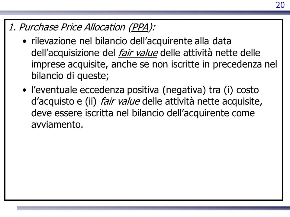 Purchase Price Allocation (PPA):