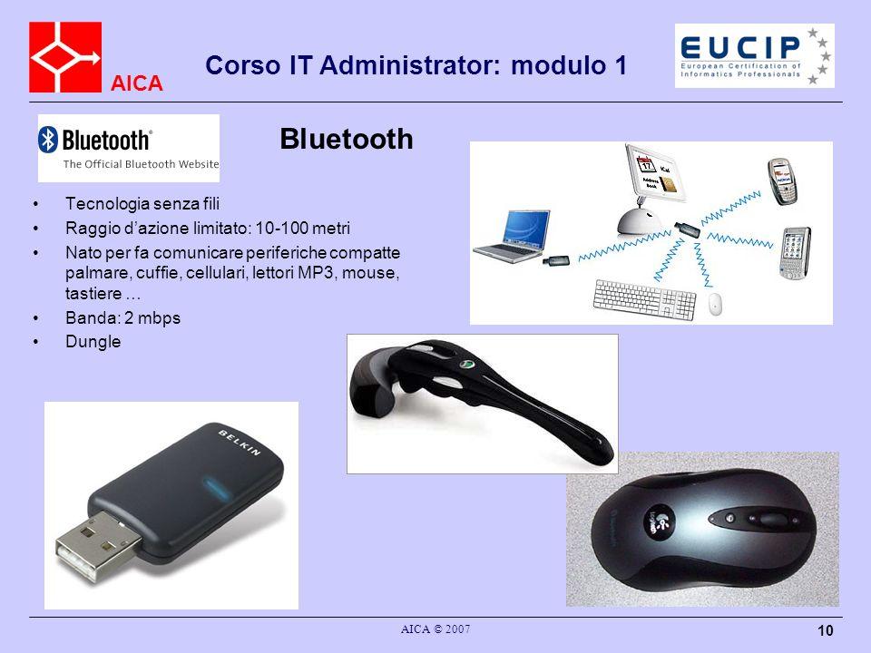 Bluetooth Corso IT Administrator: modulo 1 Tecnologia senza fili