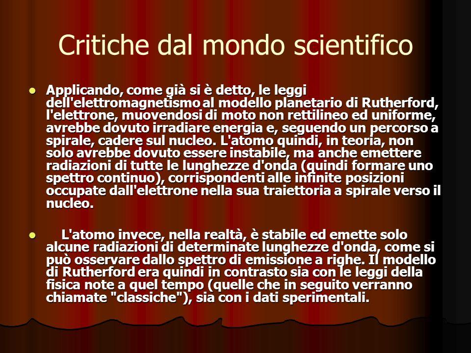 Critiche dal mondo scientifico