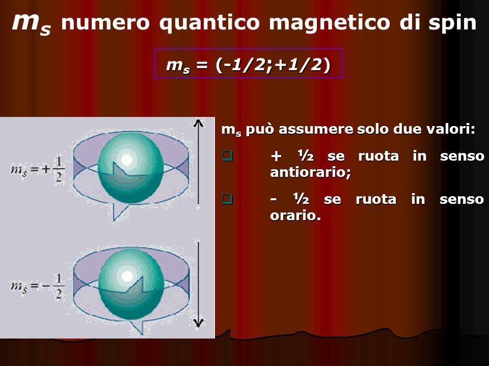 ms numero quantico magnetico di spin