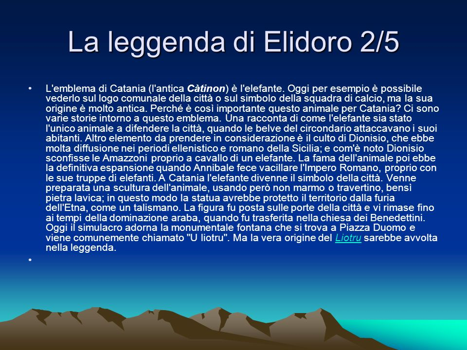 La leggenda di Elidoro 2/5