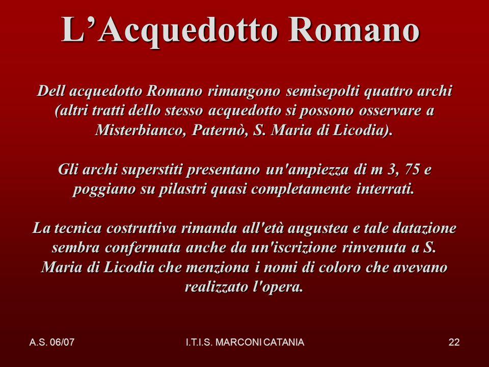 L'Acquedotto Romano