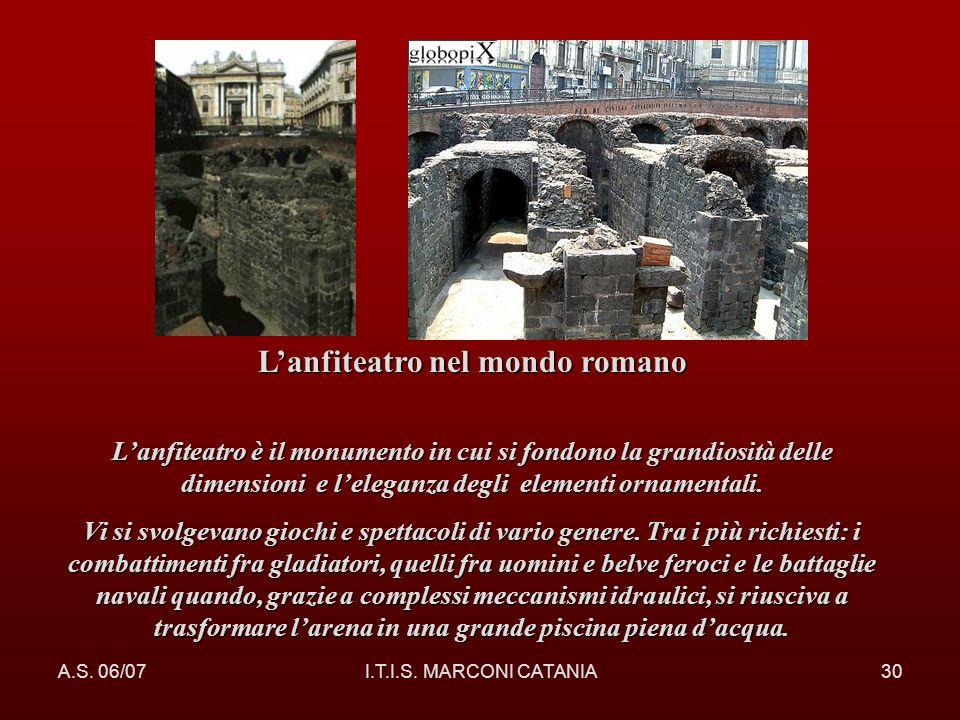 L'anfiteatro nel mondo romano