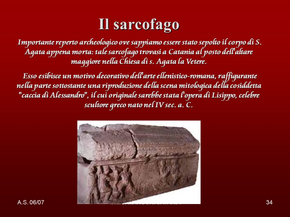 Il sarcofago