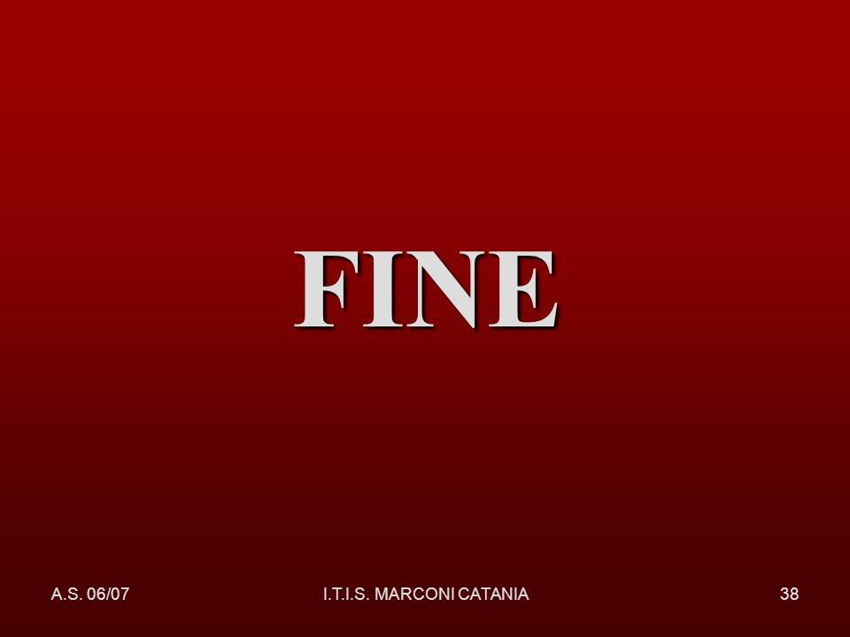 FINE A.S. 06/07 I.T.I.S. MARCONI CATANIA