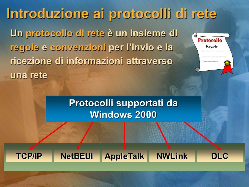 Introduzione ai protocolli di rete