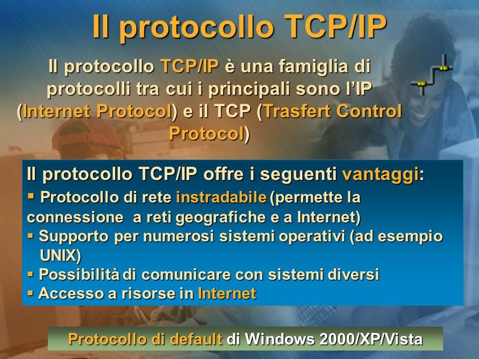 Protocollo di default di Windows 2000/XP/Vista
