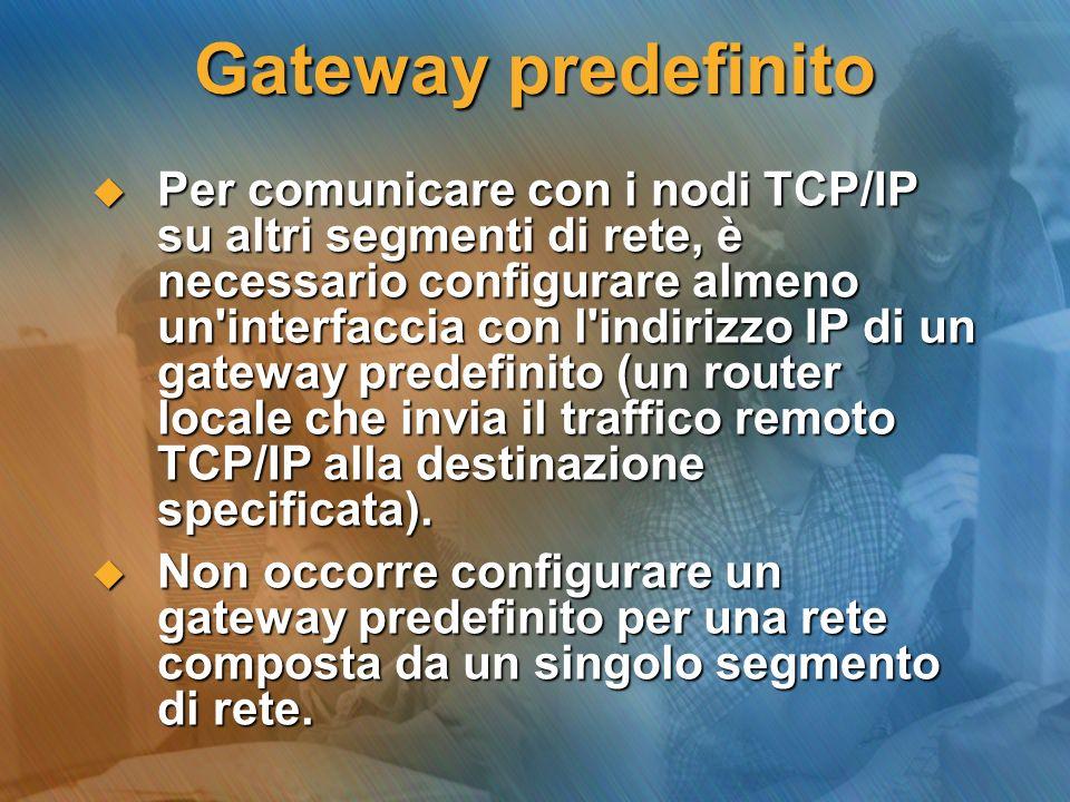 Gateway predefinito
