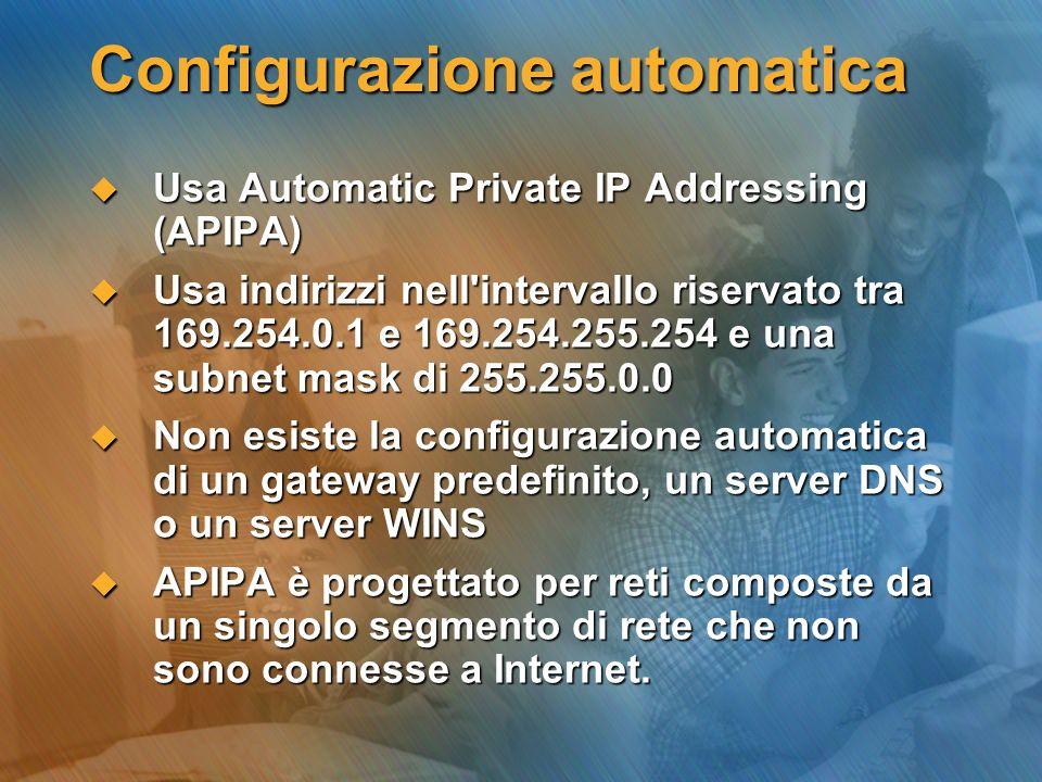 Configurazione automatica