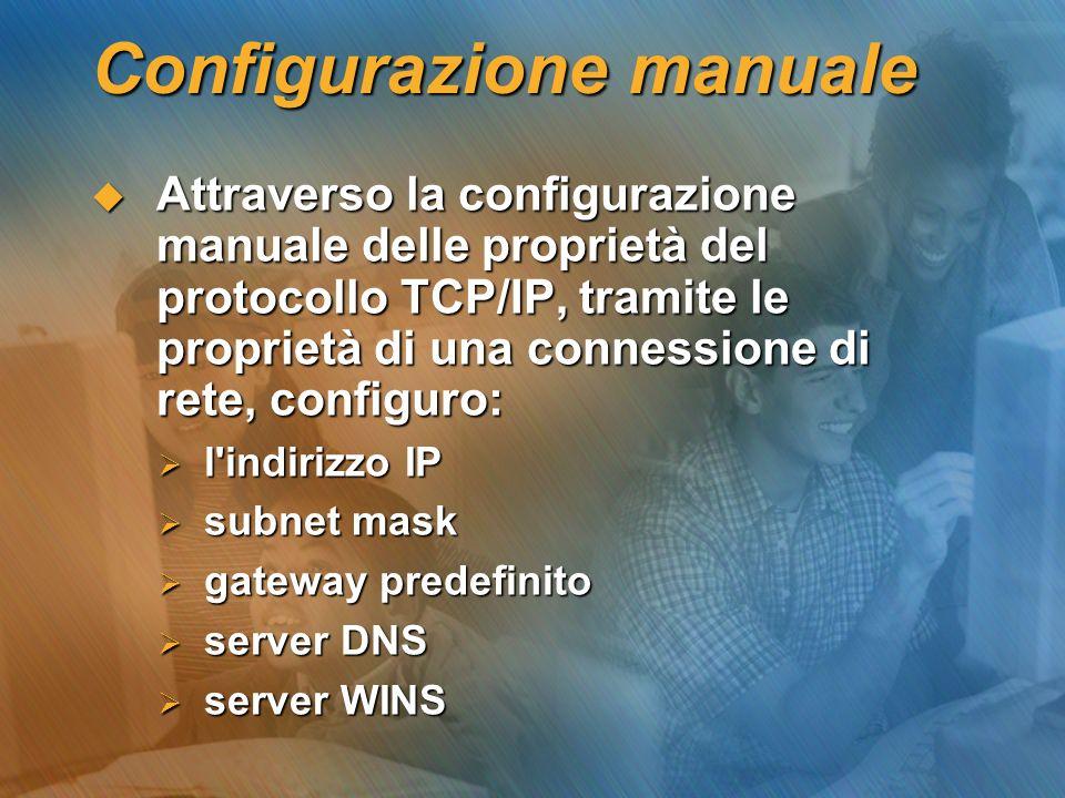 Configurazione manuale