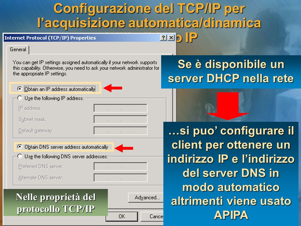 Se è disponibile un server DHCP nella rete