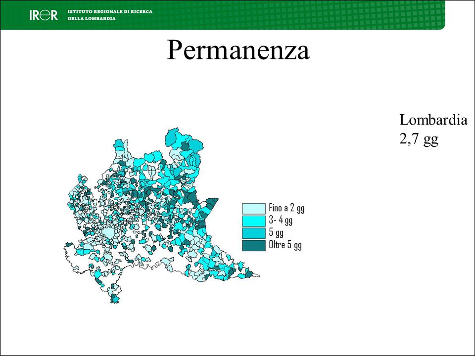 Permanenza Lombardia 2,7 gg