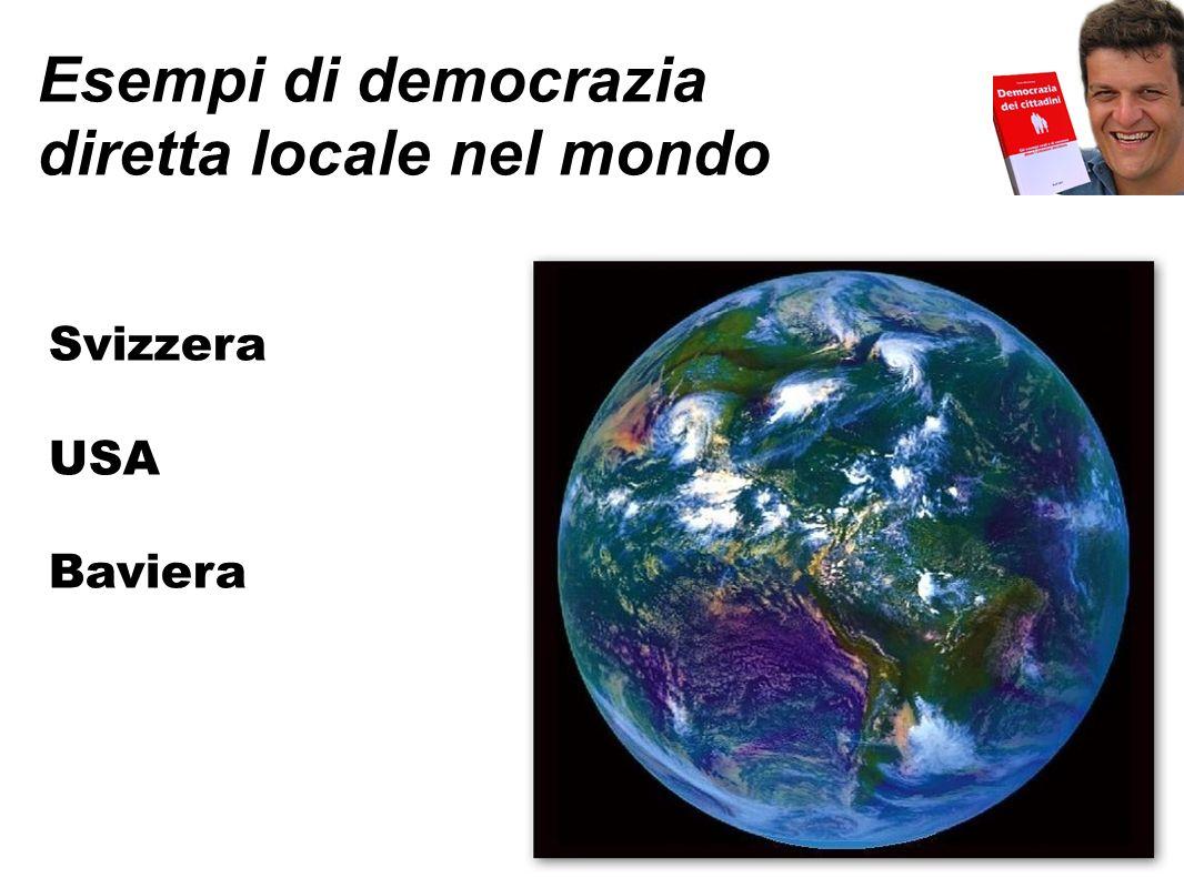 Esempi di democrazia diretta locale nel mondo