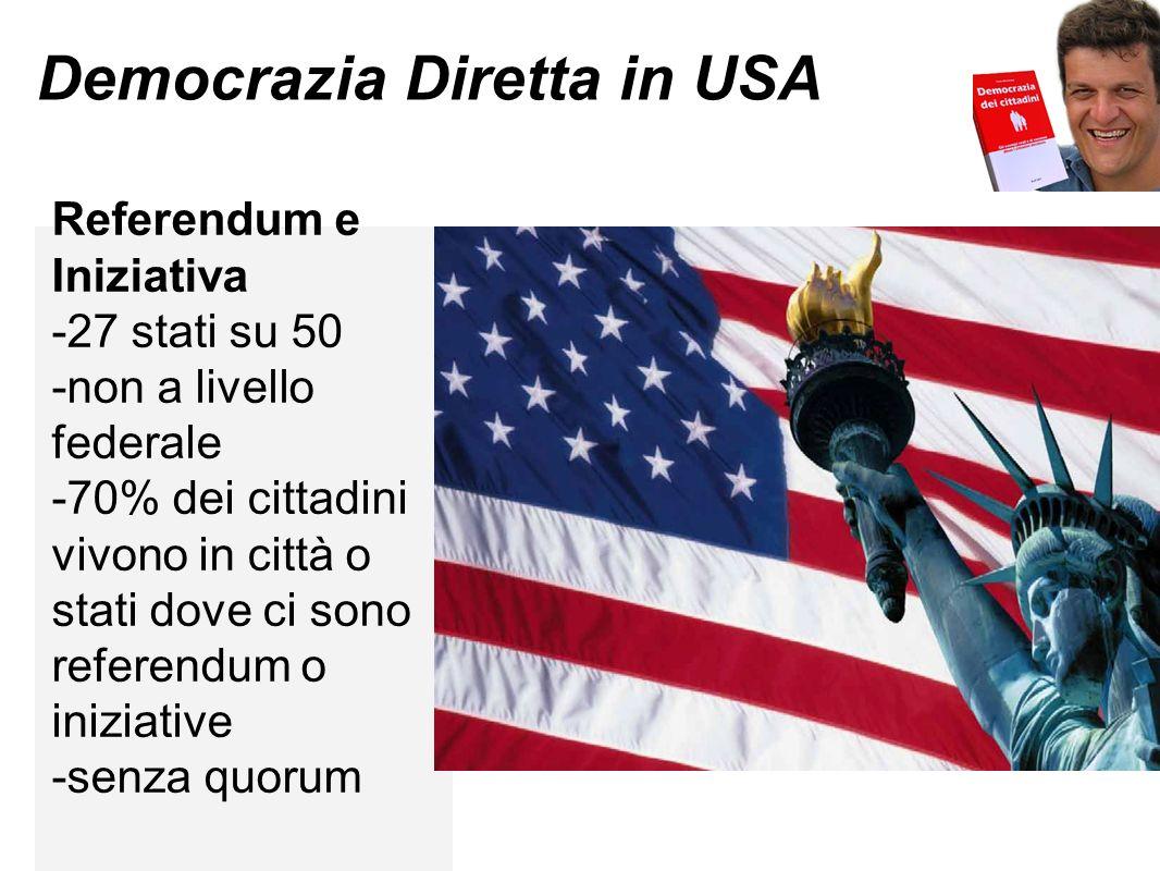 Democrazia Diretta in USA