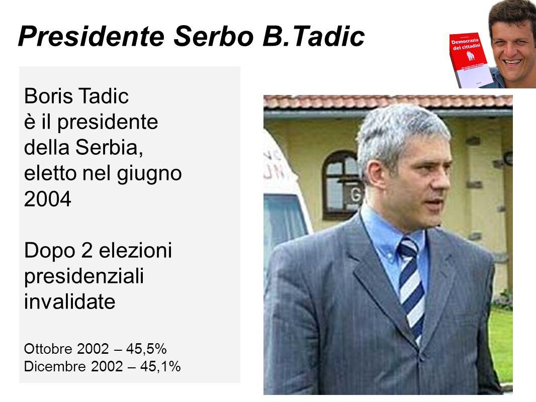 Presidente Serbo B.Tadic