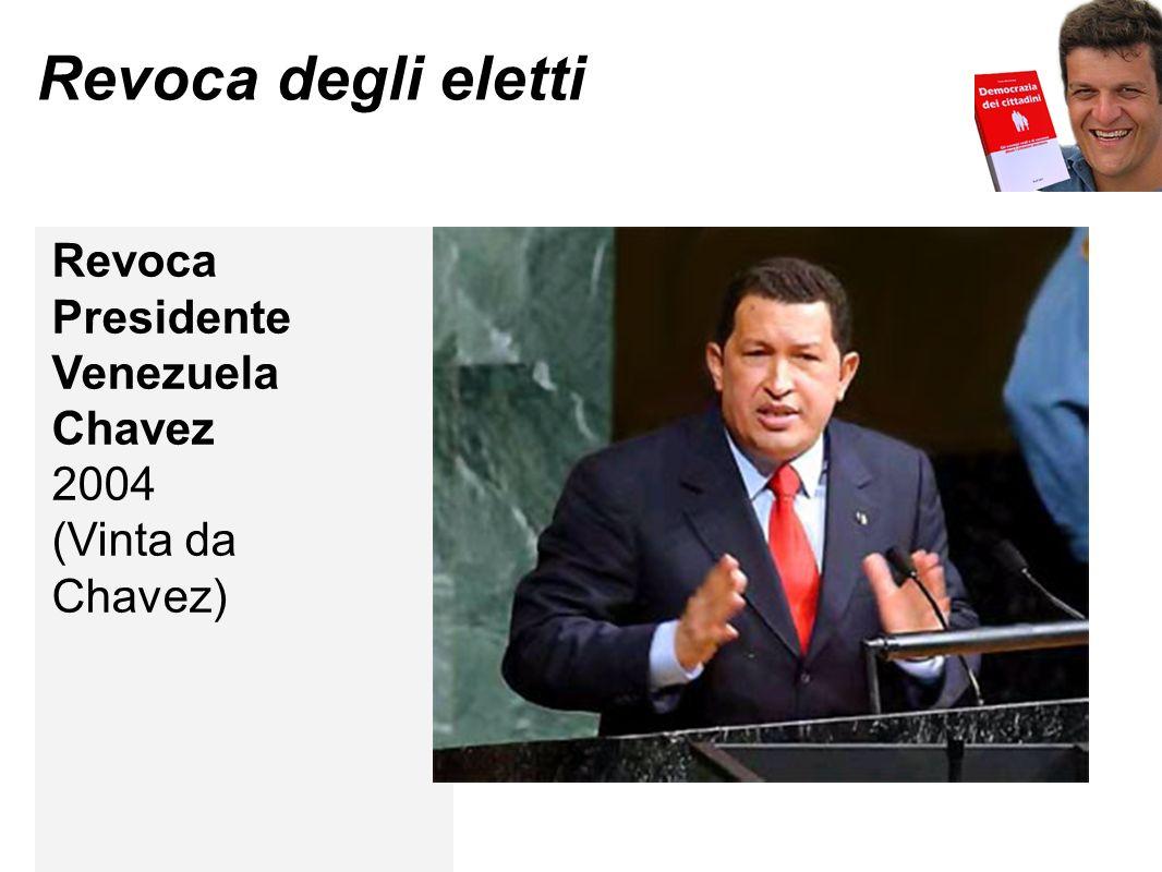 Revoca degli eletti Revoca Presidente Venezuela Chavez 2004