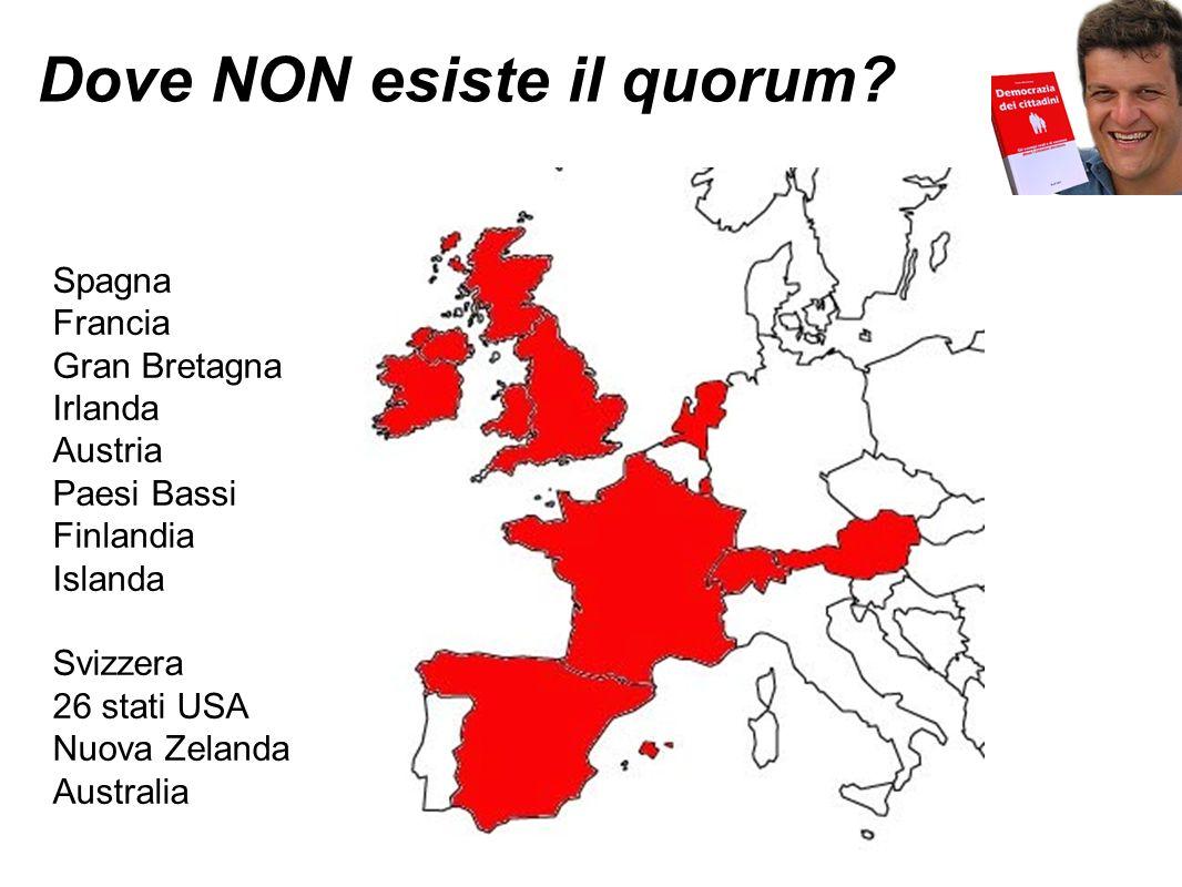 Dove NON esiste il quorum