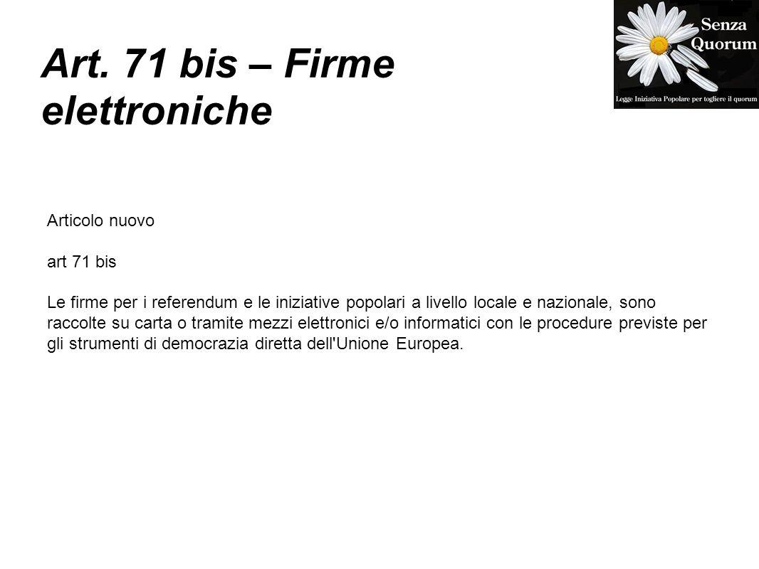 Obiettivi iniziali abolizione del quorum dai referendum - Art 16 bis del tuir ...