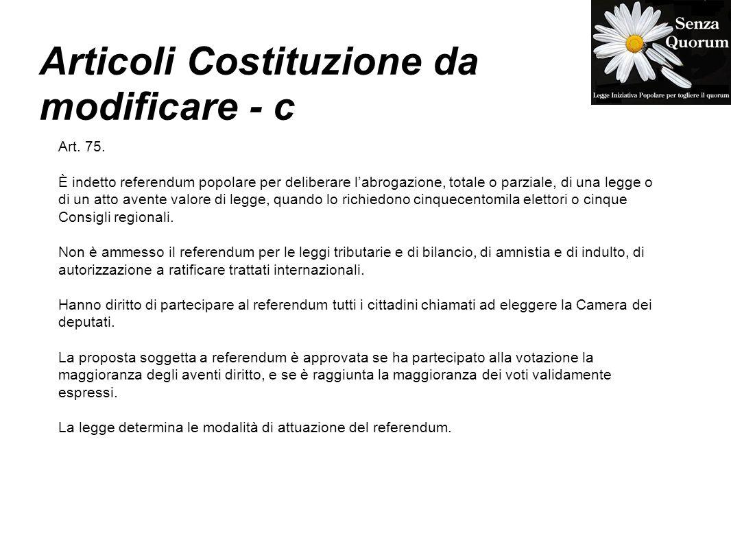 Articoli Costituzione da modificare - c