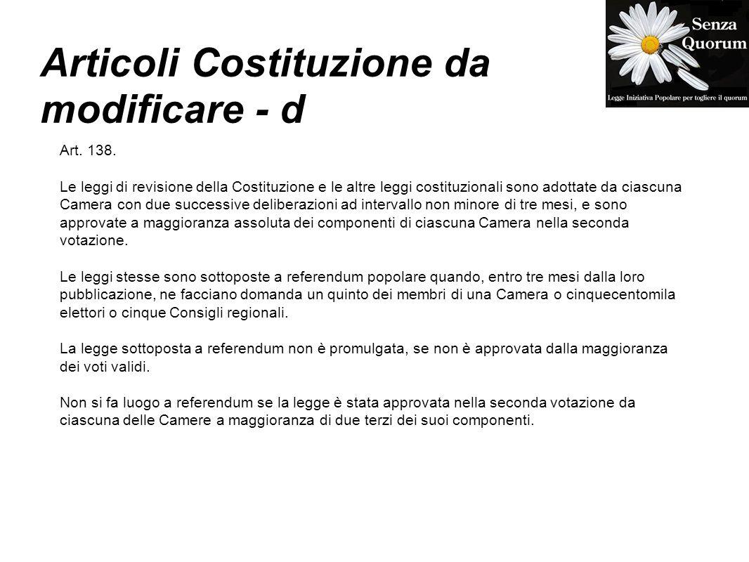 Articoli Costituzione da modificare - d