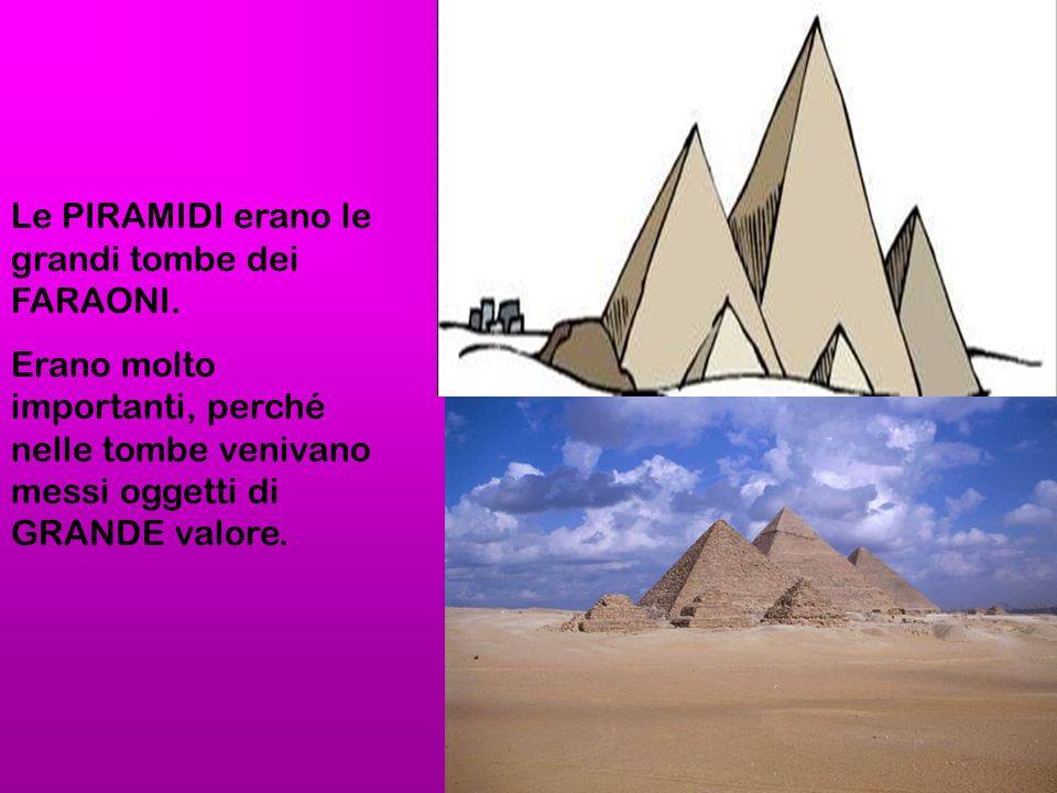Le PIRAMIDI erano le grandi tombe dei FARAONI.