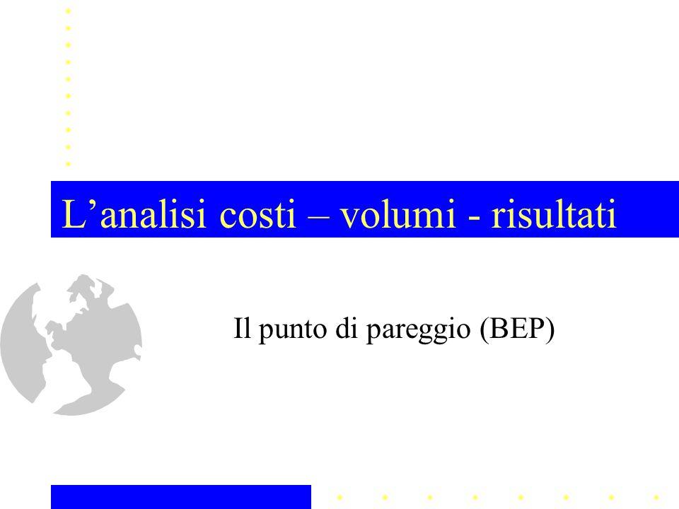 L'analisi costi – volumi - risultati