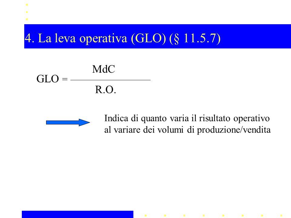 4. La leva operativa (GLO) (§ 11.5.7)