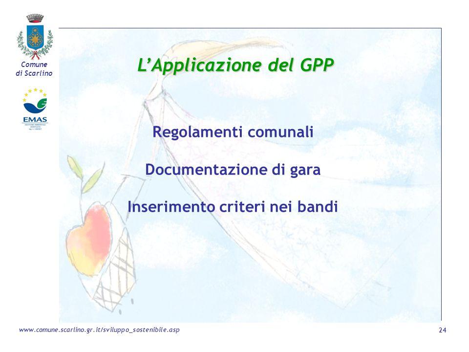 L'Applicazione del GPP