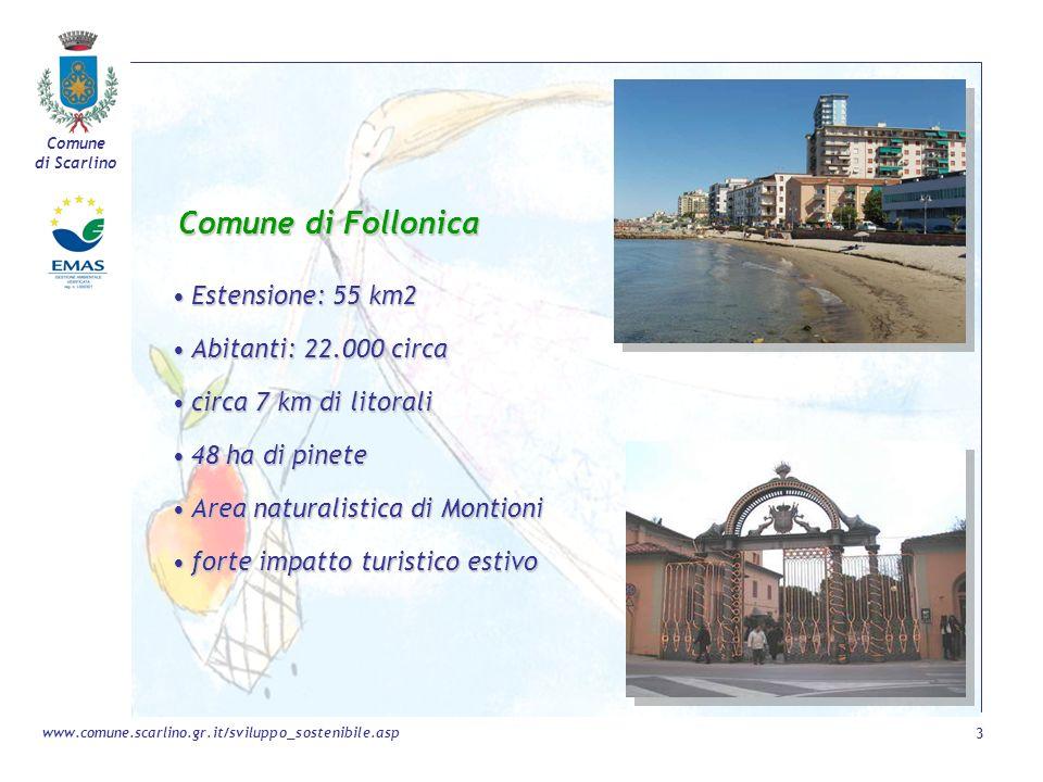Comune di Follonica Estensione: 55 km2 Abitanti: 22.000 circa