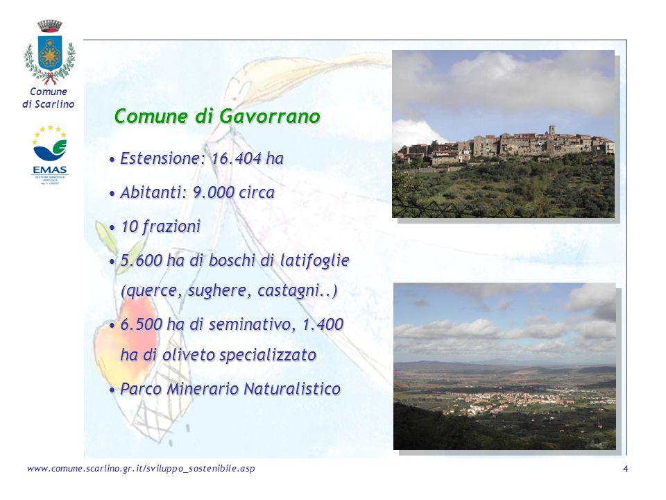 Comune di Gavorrano Estensione: 16.404 ha Abitanti: 9.000 circa