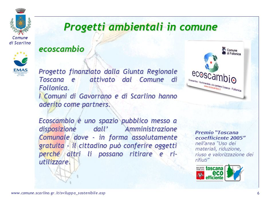 Progetti ambientali in comune