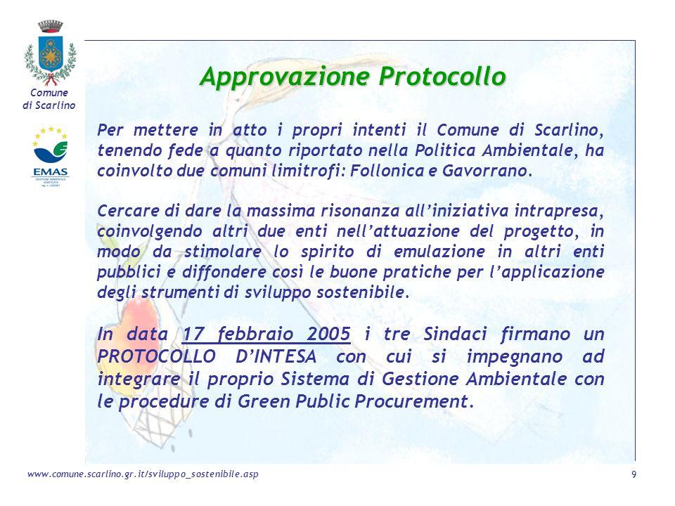 Approvazione Protocollo