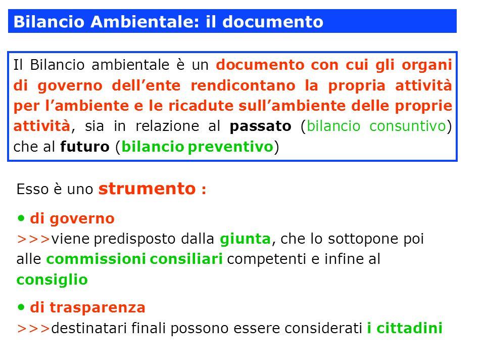 Bilancio Ambientale: il documento