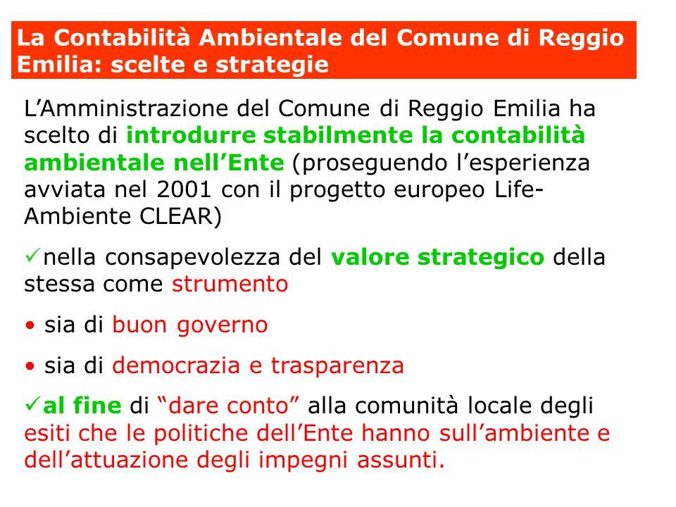La Contabilità Ambientale del Comune di Reggio Emilia: scelte e strategie