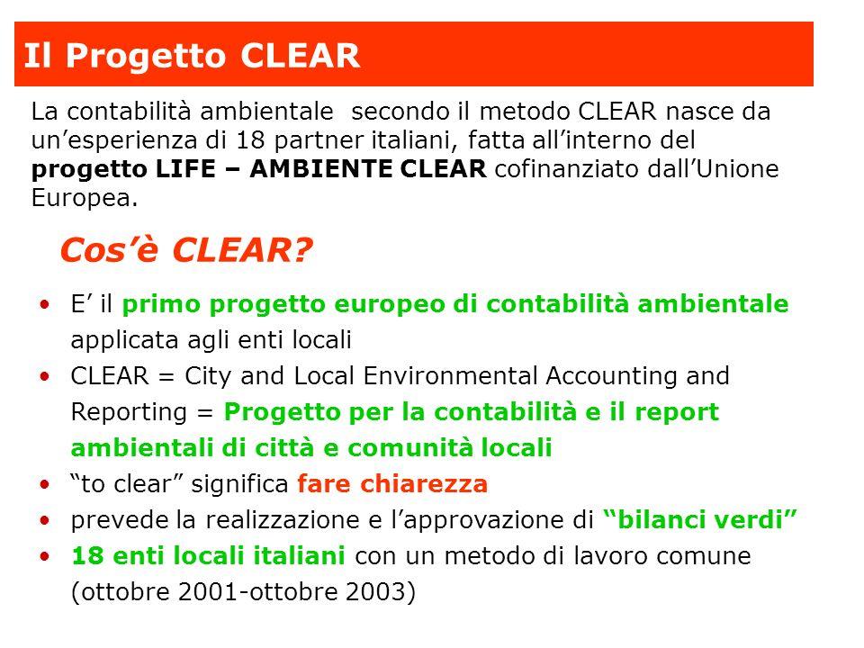 Il Progetto CLEAR Cos'è CLEAR