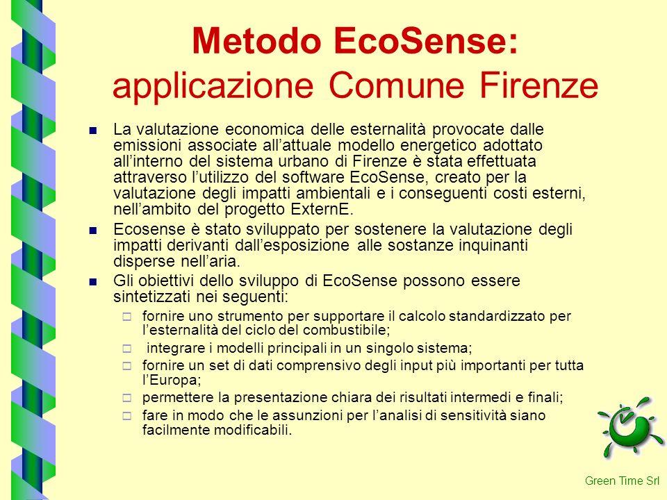 Metodo EcoSense: applicazione Comune Firenze