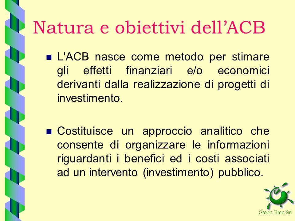Natura e obiettivi dell'ACB