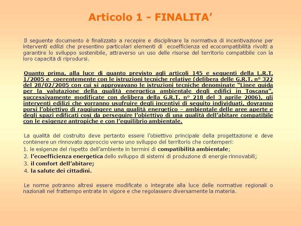 Articolo 1 - FINALITA'