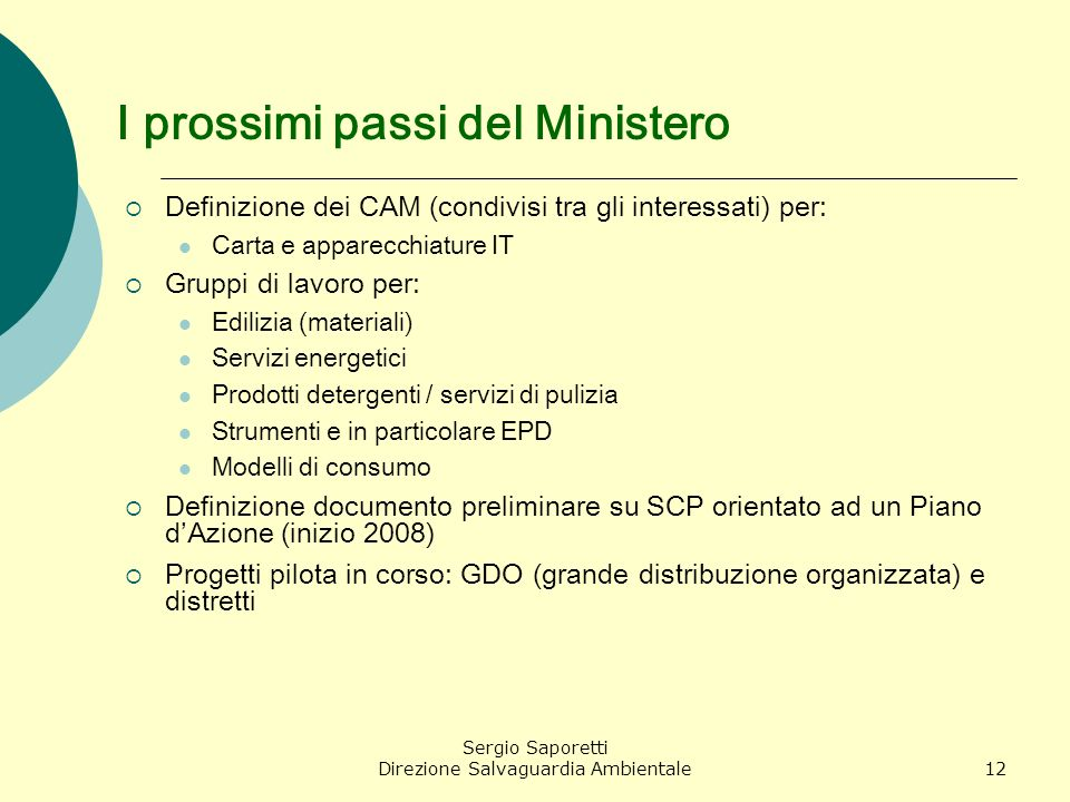 I prossimi passi del Ministero