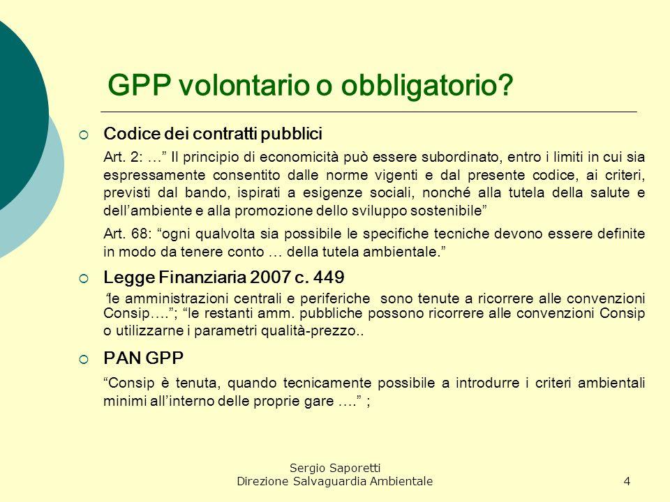 GPP volontario o obbligatorio