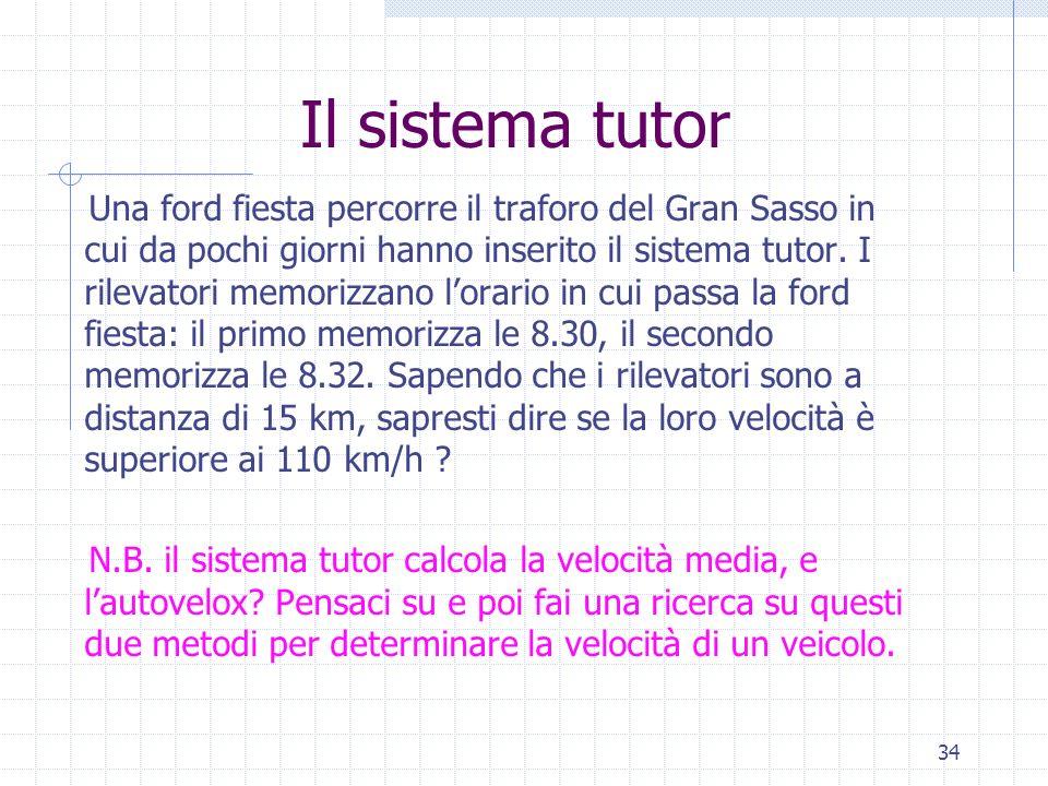 Il sistema tutor
