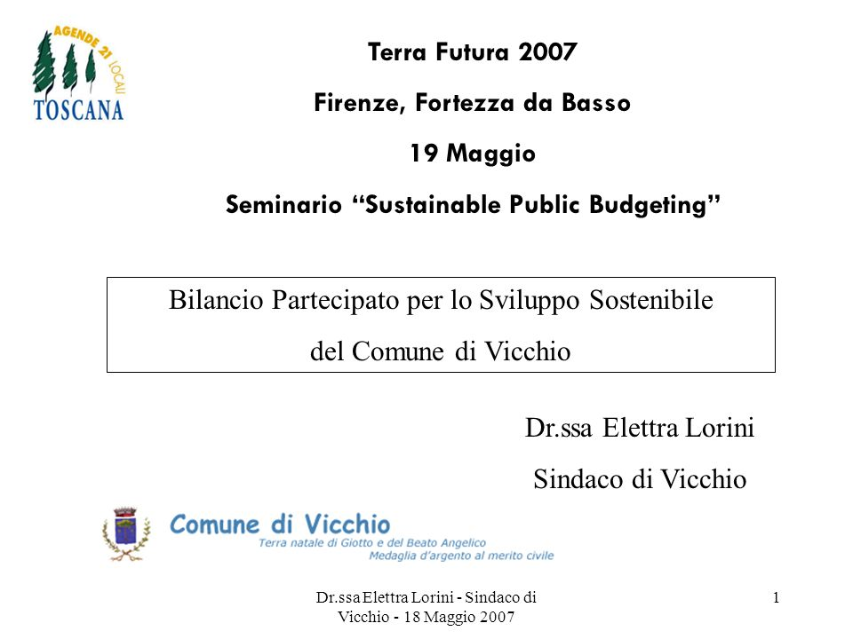 Firenze, Fortezza da Basso Seminario Sustainable Public Budgeting