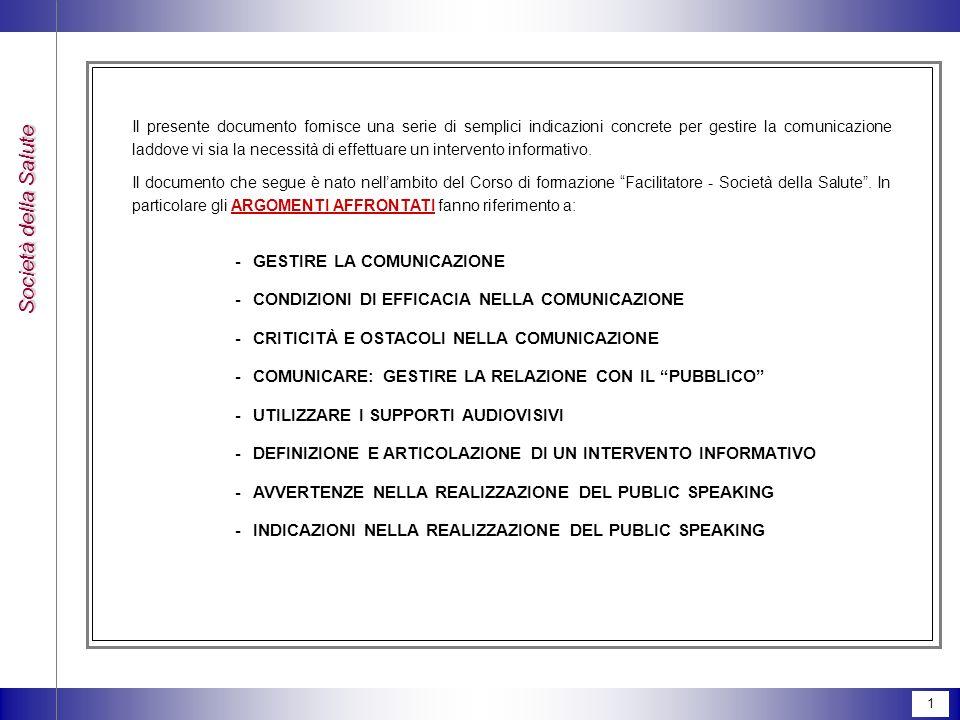 - GESTIRE LA COMUNICAZIONE