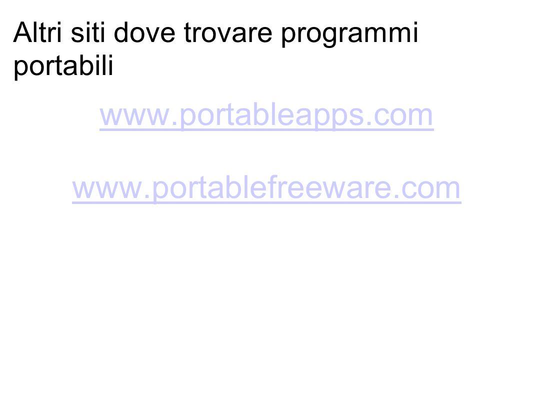 Altri siti dove trovare programmi portabili