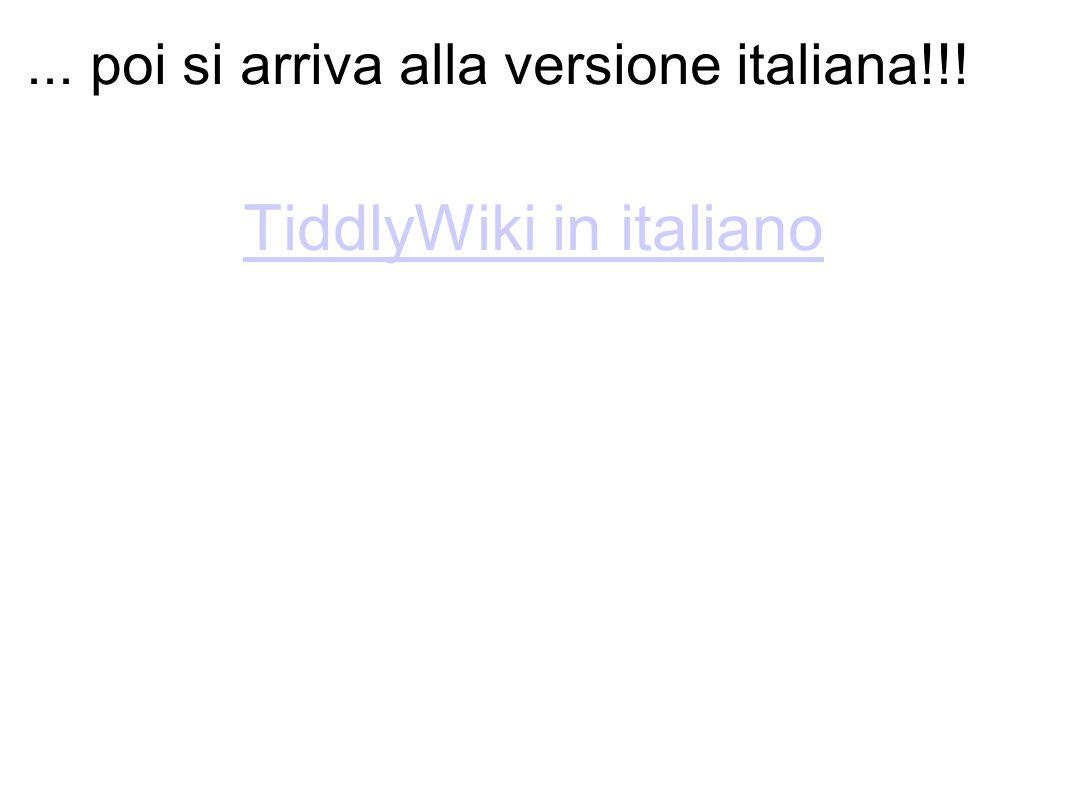 ... poi si arriva alla versione italiana!!!